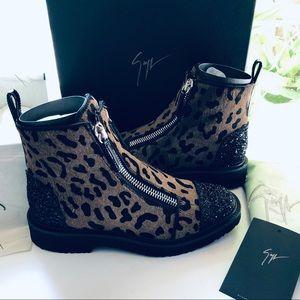 GIUSEPPE ZANOTTI 🐆 Calf Hair ✨ Celebrity Boots